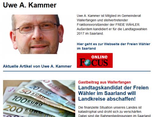 Uwe Kammer als Gastautor bei FOCUS Online